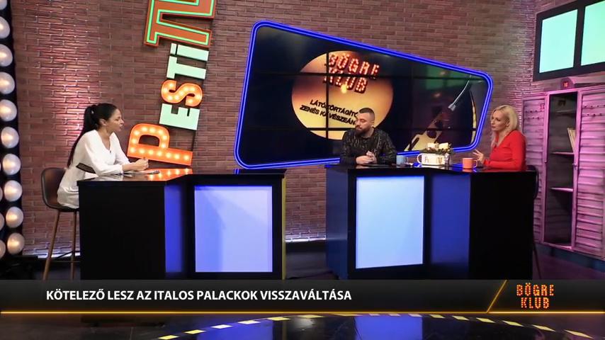 Két és fél év múlva kötelező lesz az italospalackok visszaváltása Magyarországon - Boros Anita a Bögre Klubban