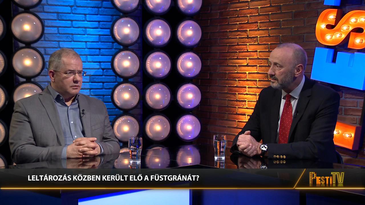 Füstgránát robbant egy Jobbikos képviselő kezében - Kósa Lajos és Horváth József a Pesti Riporterben
